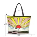 Personalized Canvas Tote Bag Purse POP art painting Sunrise by American artist USD19 1